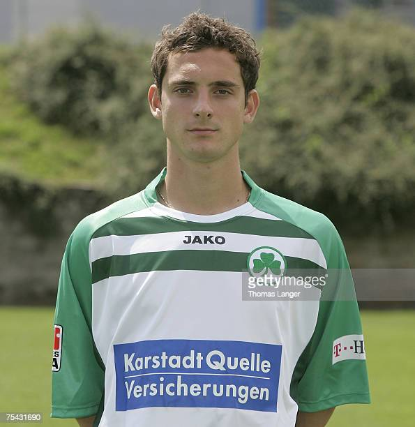 Juri Judt poses during the Bundesliga 2nd Team Presentation of SpVgg Greuther Fuerth at the Playmobil stadium on July 13 2007 in Fuerth Germany