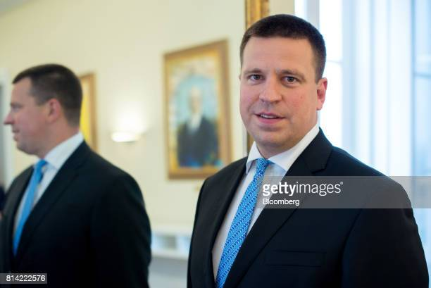 Juri Ratas Estonia's prime minister poses for a photograph following an interview in Tallinn Estonia on Thursday July 13 2017 Ratas whose ruling...