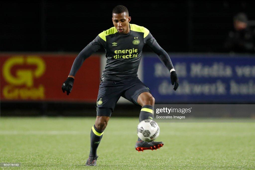 Jurich Carolina of PSV U23 during the Dutch Jupiler League ...