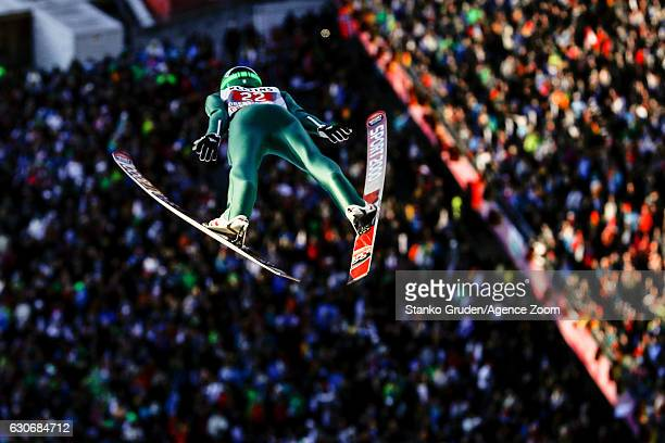 Jurij Tepes of Slovenia in action during the FIS Nordic World Cup Four Hills Tournament on December 30 2016 in Oberstdorf Germany