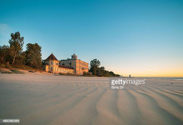 jurmala beach - latvia stock pictures, royalty-free photos & images