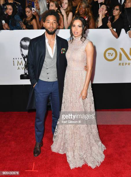 Jurnee Smollet and Jussie Smollett at the 49th NAACP Image Awards on January 15 2018 in Pasadena California