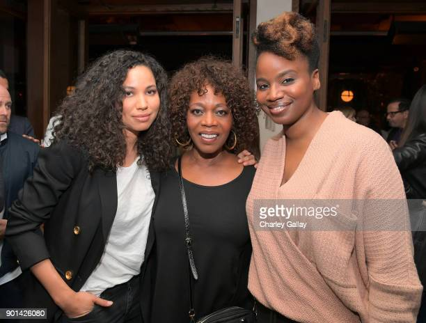 Jurnee Smollett Alfre Woodard and Dee Rees attend special screening of MUDBOUND hosted by Alfre Woodard on January 4 2018 in West Hollywood California