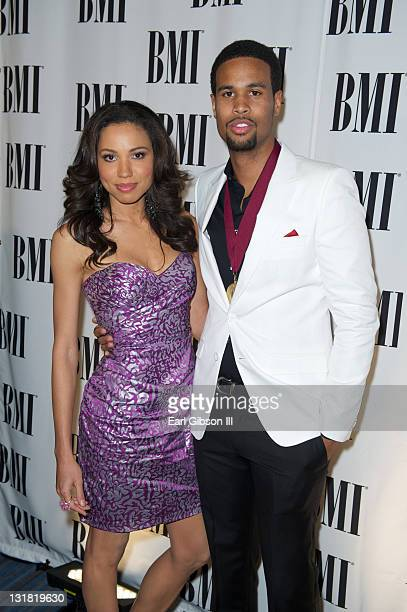 Jurnee Smollett appears with her husband Josiah Bell for the BMI 2011 Pop Music Awards at the Beverly Wilshire Four Seasons Hotel on May 17 2011 in...