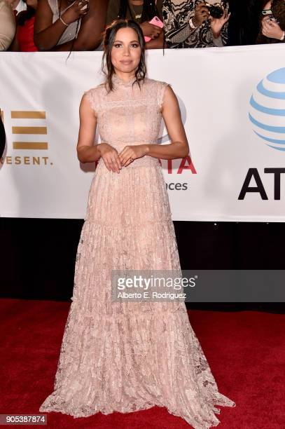 Jurnee Smollett attends the 49th NAACP Image Awards at Pasadena Civic Auditorium on January 15 2018 in Pasadena California