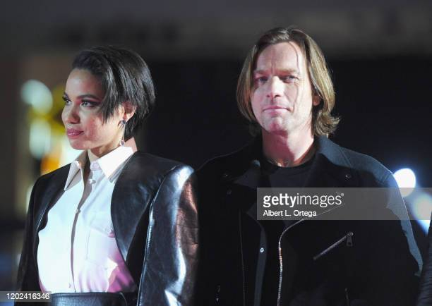 Jurnee SmollettBell and Ewan McGregor attend A Night of Music and Mayhem in Harleywood hosted by the cast of Bird Of Prey held at Hollywood and...