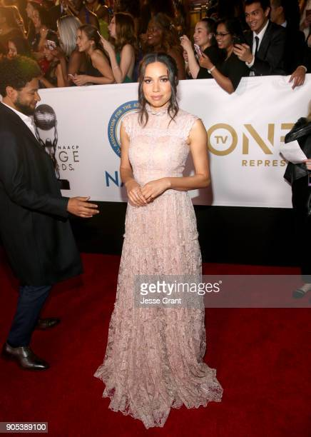 Jurnee SmollettBell attends the 49th NAACP Image Awards at Pasadena Civic Auditorium on January 15 2018 in Pasadena California