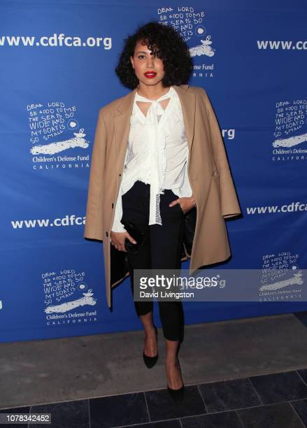Jurnee SmollettBell attends the Children's Defense Fund California's 28th Annual Beat The Odds Awards at the Skirball Cultural Center on December 06...