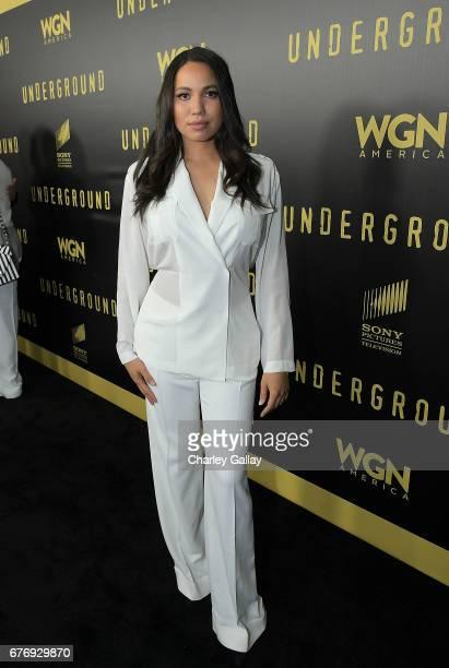 Jurnee SmollettBell attends WGN America's Presents Underground Awardsline Screening Series at Landmark Theatre on May 2 2017 in Los Angeles California