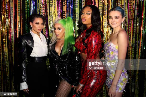 Jurnee SmollettBell Doja Cat Megan Thee Stallion and Charlotte Lawrence attend Birds Of Prey A Night Of Music And Mayhem In HARLEYWOODat DREAM...