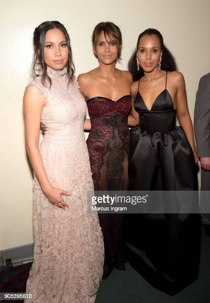Jurnee SmollettBell Halle Berry and Kerry Washington attend the 49th NAACP Image Awards at Pasadena Civic Auditorium on January 15 2018 in Pasadena...