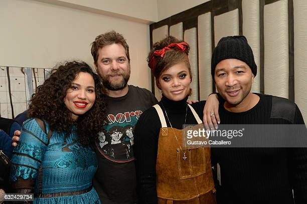 Jurnee SmollettBell Joshua Jackson Andra Day and John Legend attend WGN America's Underground Season Two Party hosted by John Legend at 2017 Sundance...