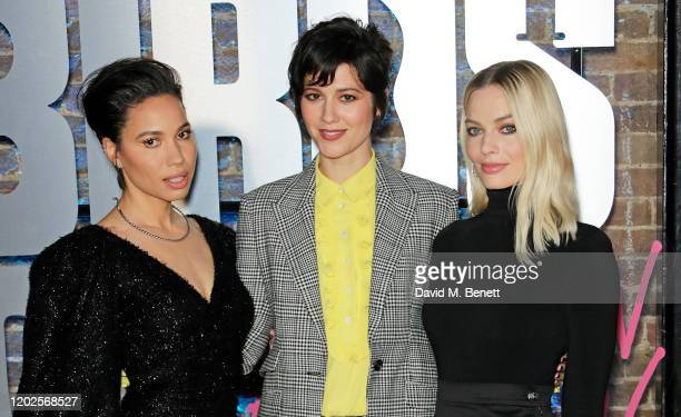 Jurnee SmollettBell Mary Elizabeth Winstead and Margot Robbie attend the UK Photocall for Birds Of Prey at Harley Quinn's PopUp Roller Disco at The...