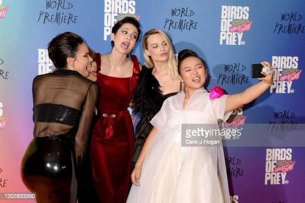Jurnee SmollettBell Rosie Perez Mary Elizabeth Winstead Margot Robbie and Ella Jay Brasco attend the Birds of Prey And the Fantabulous Emancipation...