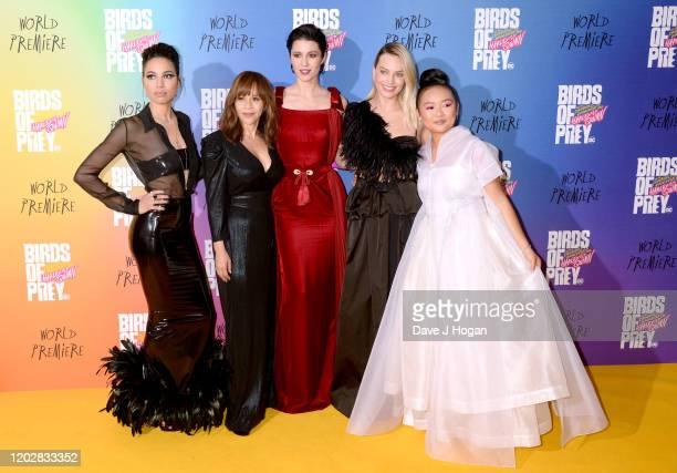 "Jurnee Smollett-Bell, Rosie Perez, Mary Elizabeth Winstead, Margot Robbie and Ella Jay Brasco attend the ""Birds of Prey: And the Fantabulous..."
