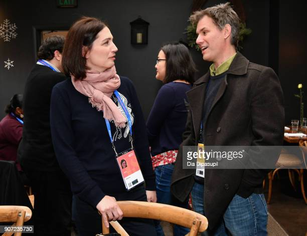 Juror Hanna Issa and Senior Programmer of Sunance Film Festival John Nein attend the Feature Film Jury Orientation Breakfast during the 2018 Sundance...