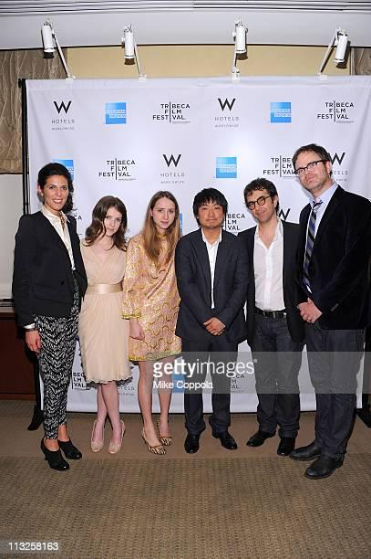 Jurors Anna Kendrick Zoe Kazanwinner/director Park Jungbum Peter Scarlet and Rainn Wilson attend the Tribeca Film Festival Awards hosted by the W...