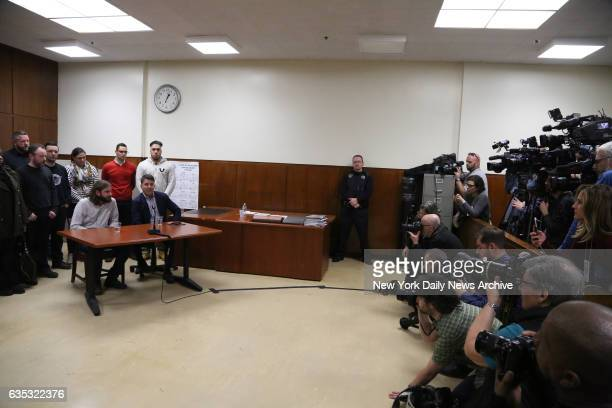 Jurors at left discuss the verdict of Pedro Hernandez who was found guilty in Manhattan Supreme Court on Tuesday February 14 2017 Pedro Hernandez who...
