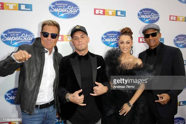 Jurors Dieter Bohlen Pietro Lombardi Oana Nechiti and Xavier Naidoo attend the season 16 finals of the tv competition show Deutschland sucht den...