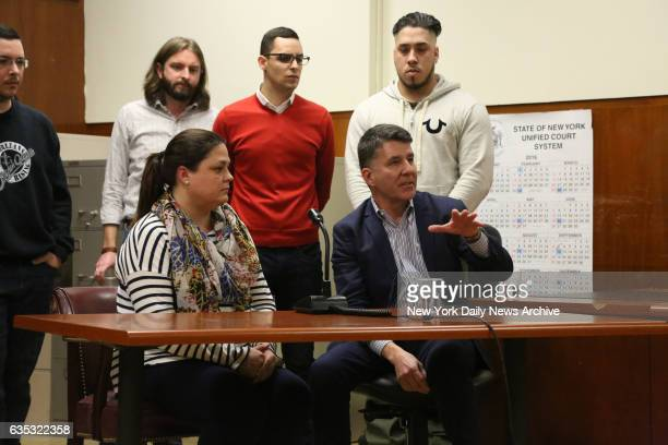 Jurors including Cateryn Kiernan and Mike Castellon discuss the verdict of Pedro Hernandez who was found guilty in Manhattan Supreme Court on Tuesday...
