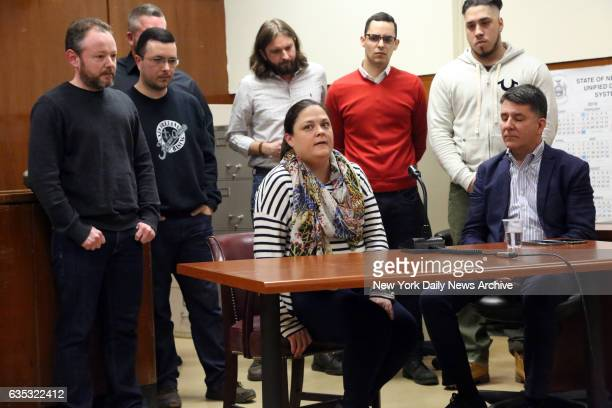 Jurors including Cateryn Kiernan discuss the verdict of Pedro Hernandez who was found guilty in Manhattan Supreme Court on Tuesday February 14 2017...