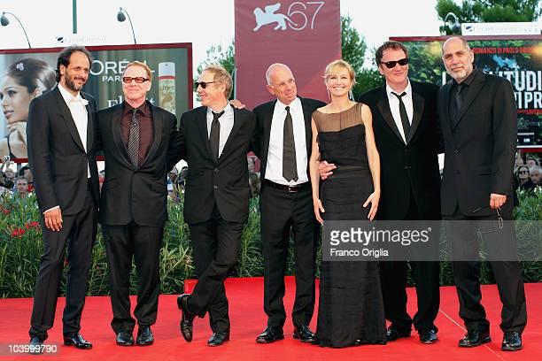 Jurors Luca Guadagnino Danny Elfman Arnaud Desplechin Gabriele Salvatores Ingeborga Dapkunaite Quentin Tarantino and Guillermo Arriaga attend the...