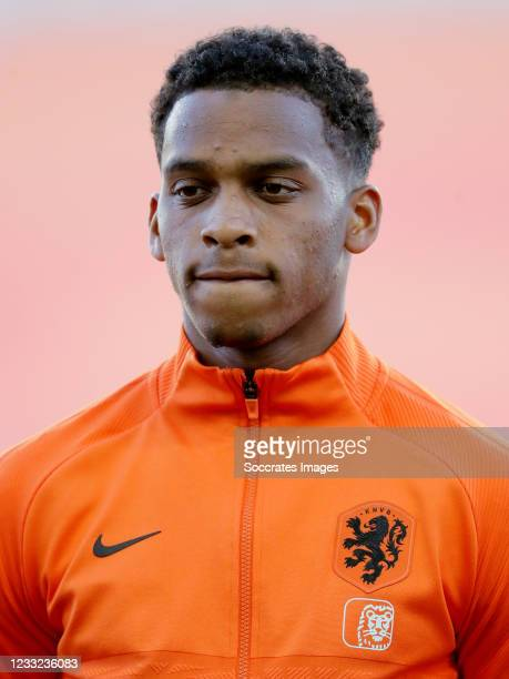 Jurrien Timber of Holland during the International Friendly match between Holland v Scotland at the Estadio Algarve on June 2, 2021 in Almancil...