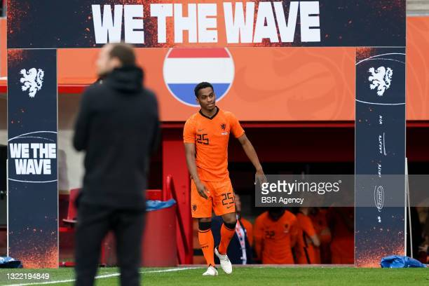 Jurrien Timber of the Netherlands during the International Friendly match between Netherlands and Georgia at FC Twente Stadion on June 6, 2021 in...