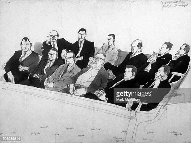 Jury at the Byron De La Beckwith Trial by Franklin McMahon