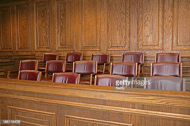 jury box - courtroom stock pictures, royalty-free photos & images
