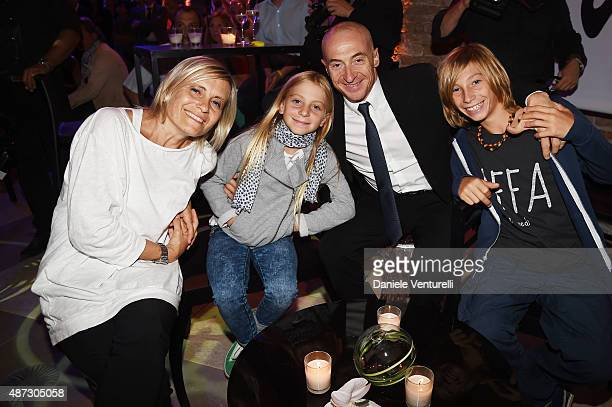 Jury Chechi and his family attends a party for 'Rudy Project' 30th Anniversary Party during the 72nd Venice Film Festival at Granai dell'Hotel...