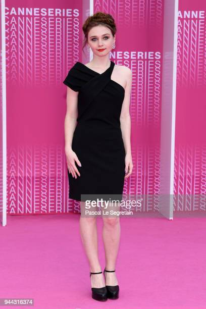 Jury digital Canneseries member Jessica Barden attends Miguel and Undercover screening during the 1st Cannes International Series Festival at Palais...