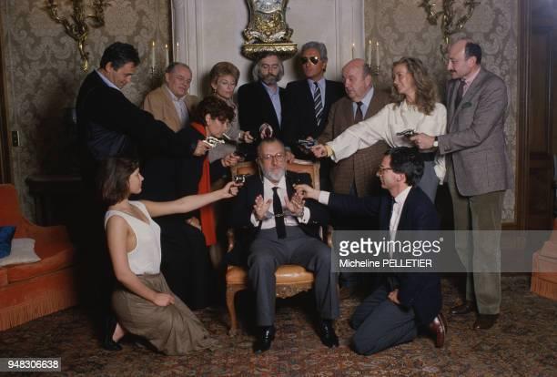 Jury du Festival du Film Policier de Cognac présidé par Sergio Leone en avril 1985 en Charente France