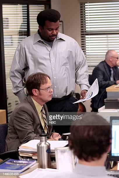 THE OFFICE Jury Duty Episode 813 Pictured Rainn Wilson as Dwight Schrute Craig Robinson as Darryl Philbin