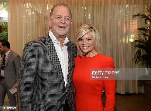 Jury for Television Chair Richard Frank and wife Leslie Frank attend the 14th annual AFI Awards Luncheon at the Four Seasons Hotel Beverly Hills on...