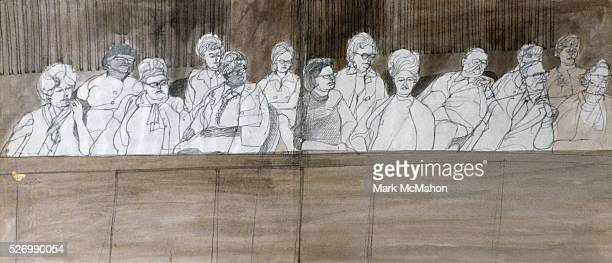 Jury in the Chicago Seven Trial by Franklin McMahon