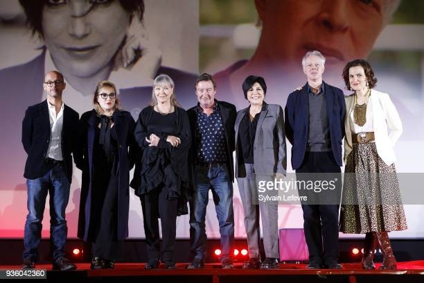 Jury Maurice Barthelemy Marilou Berry Marina Vlady Philippe Duquesne Liane Foly Philippe Le Guay and humorist Armelle attend opening ceremony of...