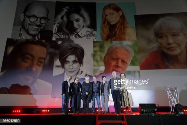 Jury Maurice Barthelemy Marilou Berry Marina Vlady Philippe Duquesne Liane Foly Philippe Le Guay and humorist Armelle atted opening ceremony of...