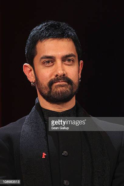 Jury member Aamir Khan attends the grand opening ceremony during the opening day of the 61st Berlin International Film Festival at Berlinale Palace...