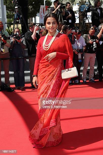 Jury member actress Vidya Balan attends the premiere for 'Un Chateau en Italie' during the 66th Annual Cannes Film Festival at Palais des Festivals...