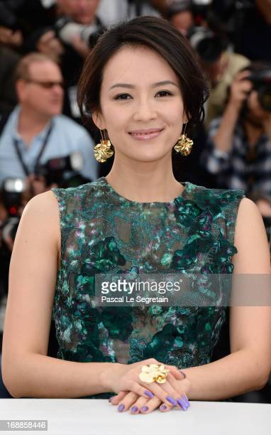Jury member actress Zhang Ziyi attends the Jury 'Un Certain Regard' Photocall during the 66th Annual Cannes Film Festival at the Palais des Festivals...