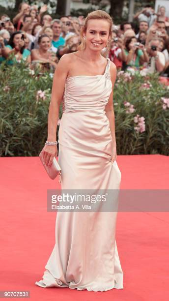 Jury Member and actress Sandrine Bonnaire attends the Closing Ceremony Red Carpet And Inside at The Sala Grande during the 66th Venice Film Festival...