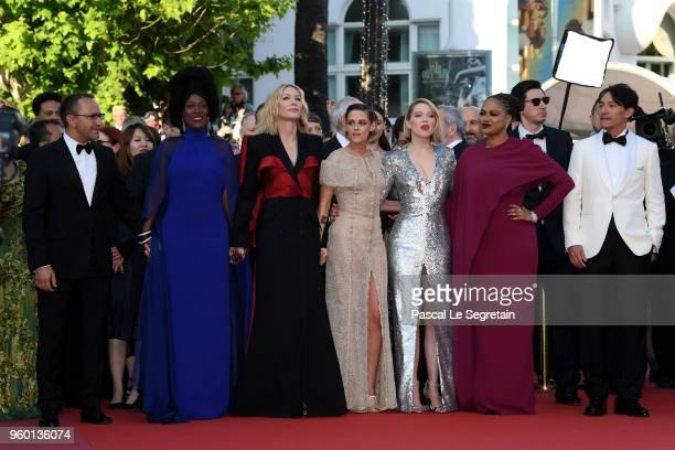 Jury member Andrey Zvyagintsev Khadja Nin Jury president Cate Blanchett Kristen Stewart actor Adam Driver and jury member Chang Chen attends the...