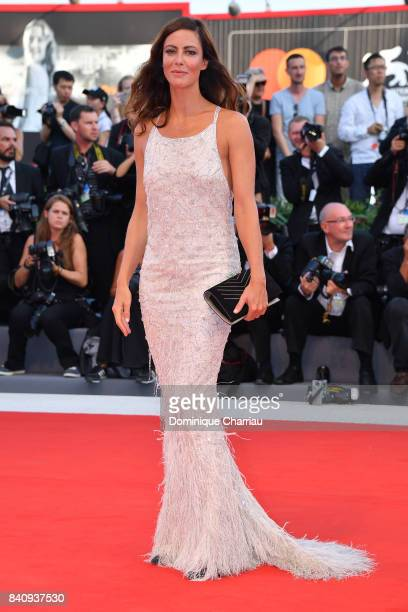 Jury member Anna Mouglalis walks the red carpet ahead of the 'Downsizing' screening and Opening Ceremony during the 74th Venice Film Festival at Sala...