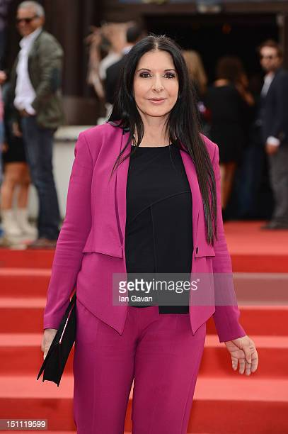 Jury member artist Marina Abramovic attends a film premiere during the 69th Venice Film Festival at the Palazzo del Cinema on September 1 2012 in...