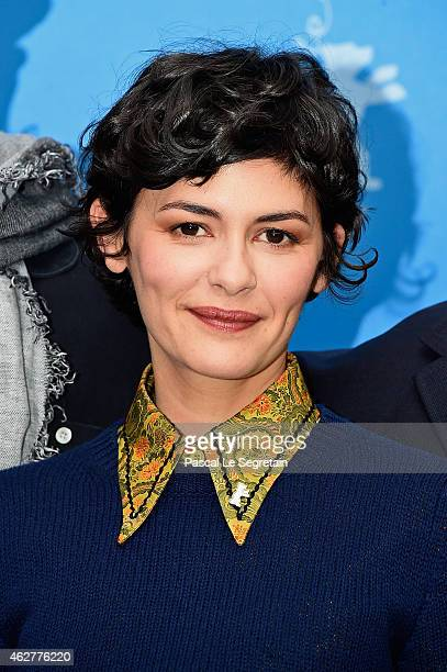 Jury member Audrey Tautou attends the International Jury photo call during the 65th Berlinale International Film Festival at Grand Hyatt Hotel on...