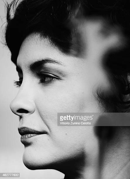 Jury member Audrey Tautou attends the International Jury press conference during the 65th Berlinale International Film Festival at Grand Hyatt Hotel...