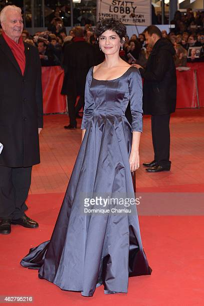 Jury member Audrey Tautou attends the 'Nobody Wants the Night' premiere and Opening Ceremony of the 65th Berlinale International Film Festival at...