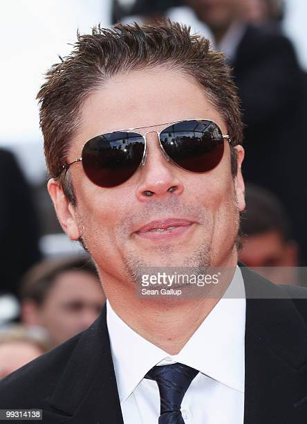 Jury member Benicio Del Toro attends the 'IL Gattopardo' Premiere at the Palais des Festivals during the 63rd Annual Cannes Film Festival on May 14...