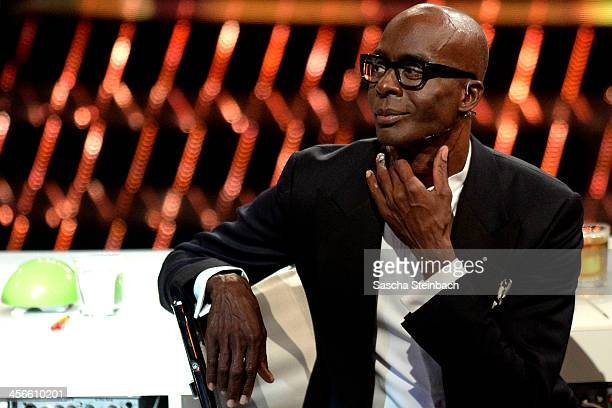 Jury member Bruce Darnell looks on during the finals of 'Das Supertalent' at Coloneum on December 14 2013 in Cologne Germany